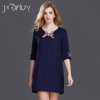 JXDINOY Fashion Naval Style Casual Ribbon Dresses For Bow Tie Women Symmetrical Pocket Fall Trim Bodycon Dress JX7156