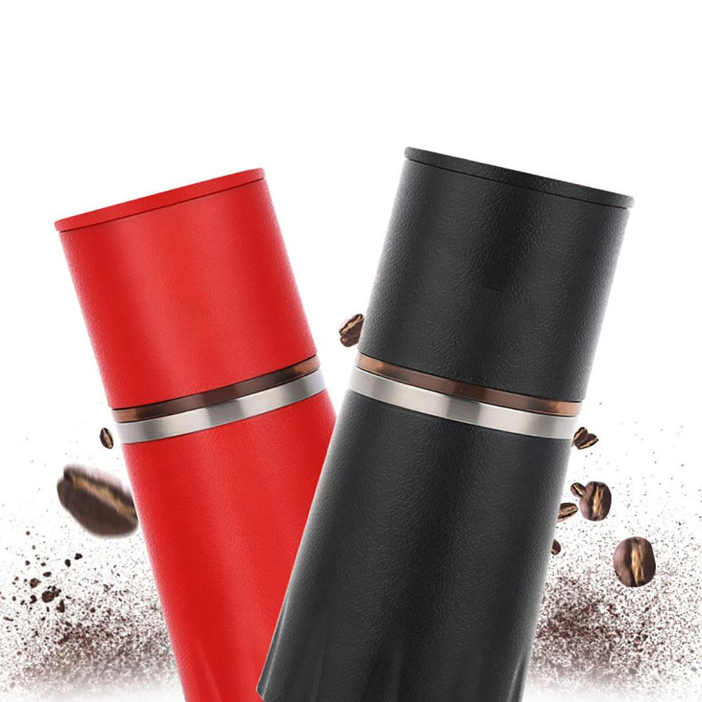 Coffee Maker Grinding Set Manual Grinder Brewer Mug Portable Camping Hiking Travel Cup Kitchen Coffee Cup