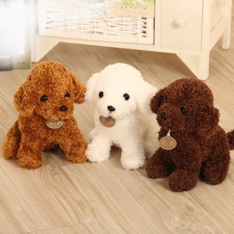 18/25 Cm Simulation Teddy Dog Poodle Plush Toys Cute Animal Suffed Doll  For Christmas Gift