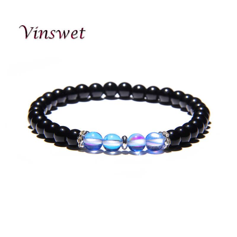 2019 новый дизайн, браслет дружбы, пара браслетов, бусины, энергетические браслеты с кристаллами, Femme, черный оникс, мужские ювелирные изделия, подарок