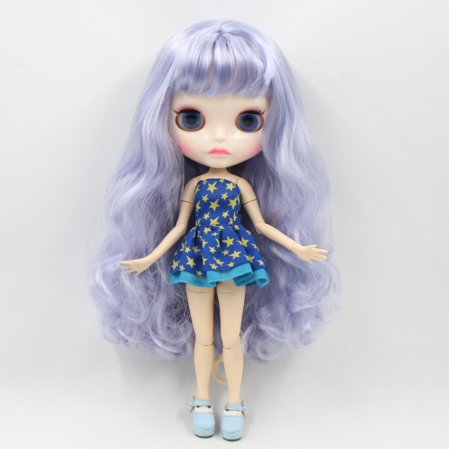 ICY Neo Blythe Doll Blue Violet Hair Jointed Body