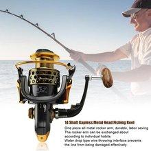 All Metal Rocker Arm Fishing Vessel 14 Shaft Gapless Metal Head Fishing Reel Wheel Wheel Aluminum Alloy Drop Cast