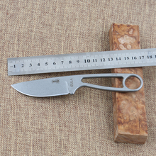 One-batch Forming Survival Small Straight D2 Knife Tactical Hunting Knife Fixed Blade NECK Knife StoneWashed thickness 4mm