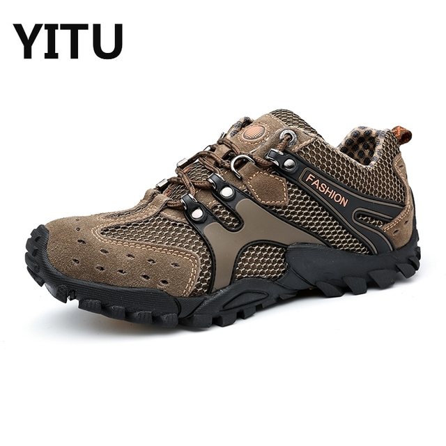 Hiking Tracking Shoes For Man Abrasion Anti-Slip Mens Outdoor Shoes Shockproof Climbing Shoes Man Mountain Climbing Trainers