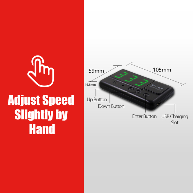 VJOYCAR C60 Universal Car HUD GPS Speedometer Head Up Display Windshield Digital Speed Projector Overspeed Alarm For All Vehicle