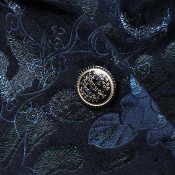 Plyesxale Men Blazer 2018 Slim Fit Mens Floral Blazer Famous Brand Navy Blue Wine Red Velvet Blazer 6XL Vintage Stage Wear Q225