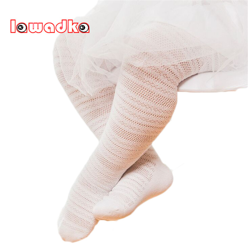 Lawadka Summer Thin Kids Girls Tights Hollow out Tights for Baby Children Pantyhose Stocking rib knit tights