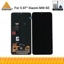 """オリジナル axisinternational 5.97 """"シャオ mi mi 9SE mi 9 se 液晶表示画面 + タッチパネルデジタイザ mi 9 se amoled ディスプレイ"""