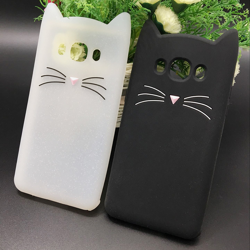 Cat Phone Case For Samsung Galaxy A5 A7 A3 2017 J1 J3 J5 J7 2016 Grand Prime S6 S7 S8 Edge S5 Cute Silicone Tpu Soft Cases Cover