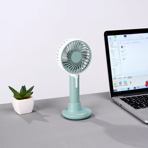 Image 4 - Mini fan usb charging three speed wind office desktop mute small fan outdoor portable usb handheld fan