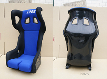 One Lot/2 Pcs Buckets Series Car Seat RAQ Fiberglass Frame Black Blue Red Alcantara Suede Cloth Racing Car Bucket Seats