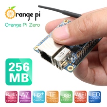 Orange Pi زيرو 256 ميجابايت H2 + رباعية النواة مفتوحة المصدر لوحة صغيرة ، ودعم منفذ إيثرنت 100 متر وواي فاي