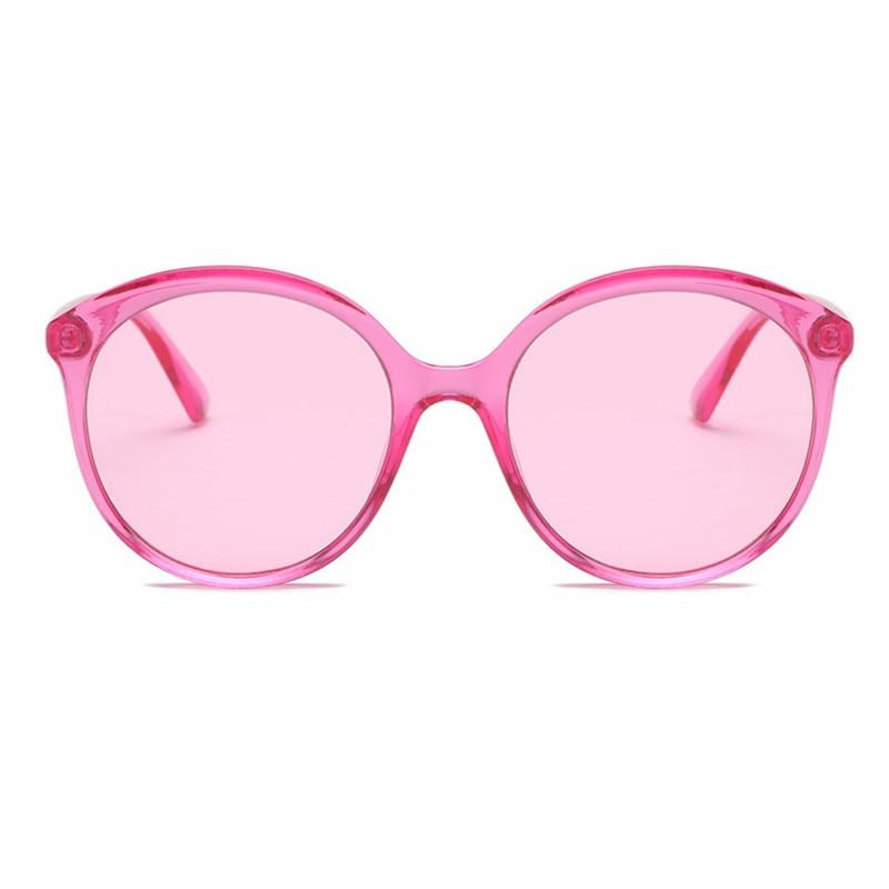2018 Fashion Oval Sunglasses Women Men Glitter Lenses Sunglasses Transparent Candy Color Frame Ocean Lenses Party Glasses Uv400 Women's Sunglasses