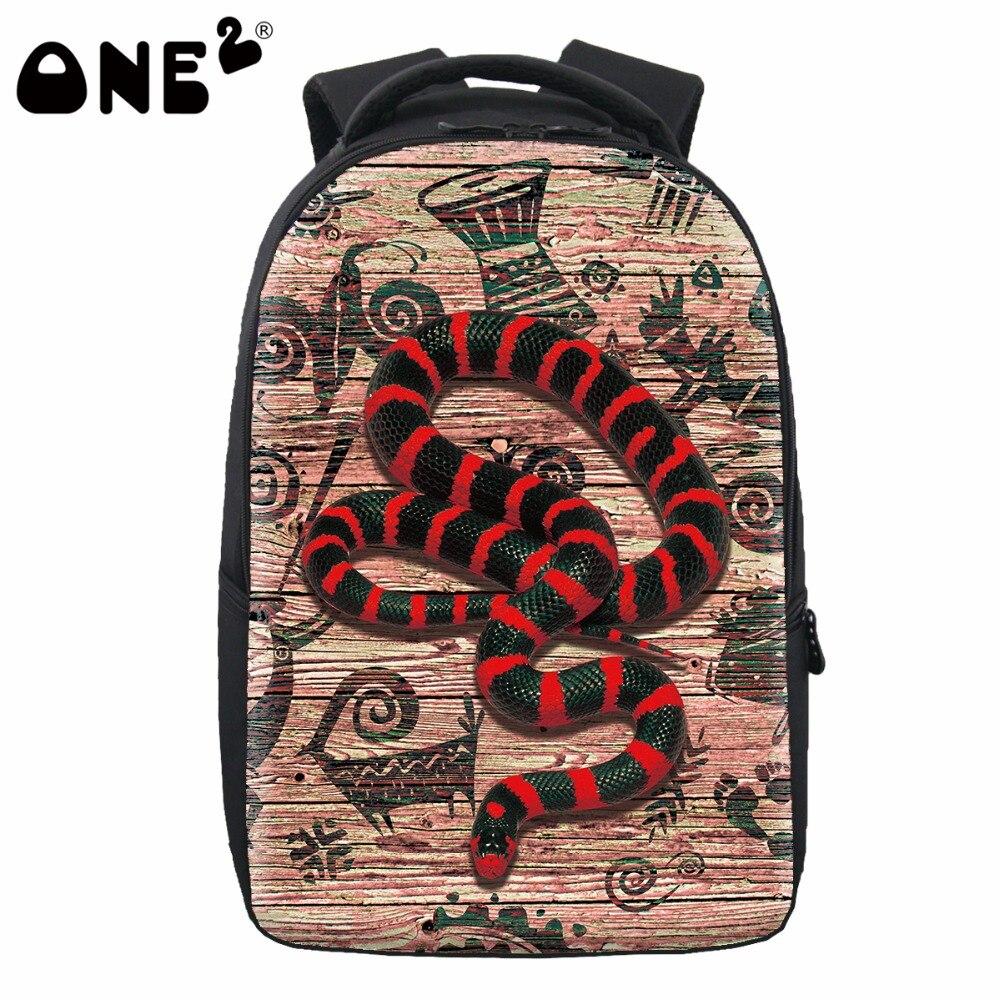 School bag new design - One2 2017 New Design Animal Snake Trendy School Bag Women Bag Men Laptop Backpack Fashion For