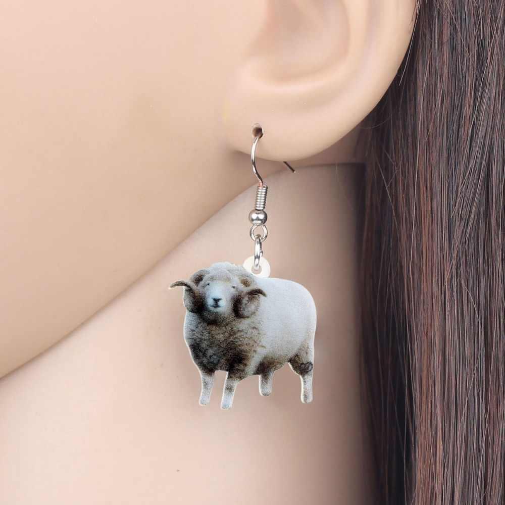 Bonsny акриловые серые милые серьги-подвески в форме капли Шпилька, модные ювелирные изделия для животных, для женщин, девушек, подростков, подарок, аксессуары