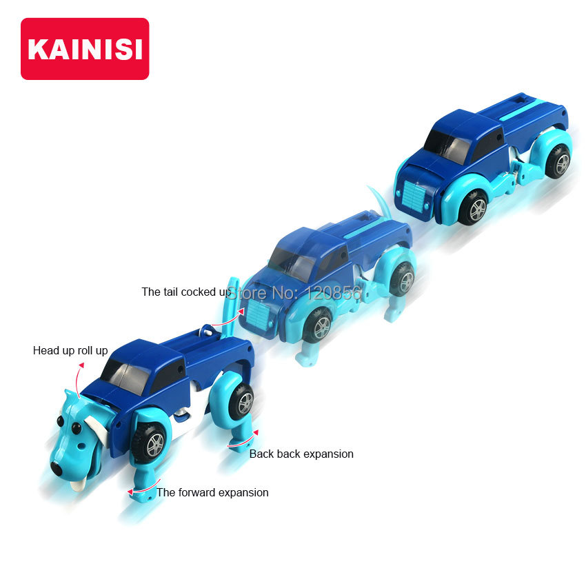 free-shipping-4-colors-14CM-cool-Automatic-transform-Dog-Car-Vehicle-Clockwork-Wind-up-toy-for-children-kids-boy-girl-toy-Gift-1
