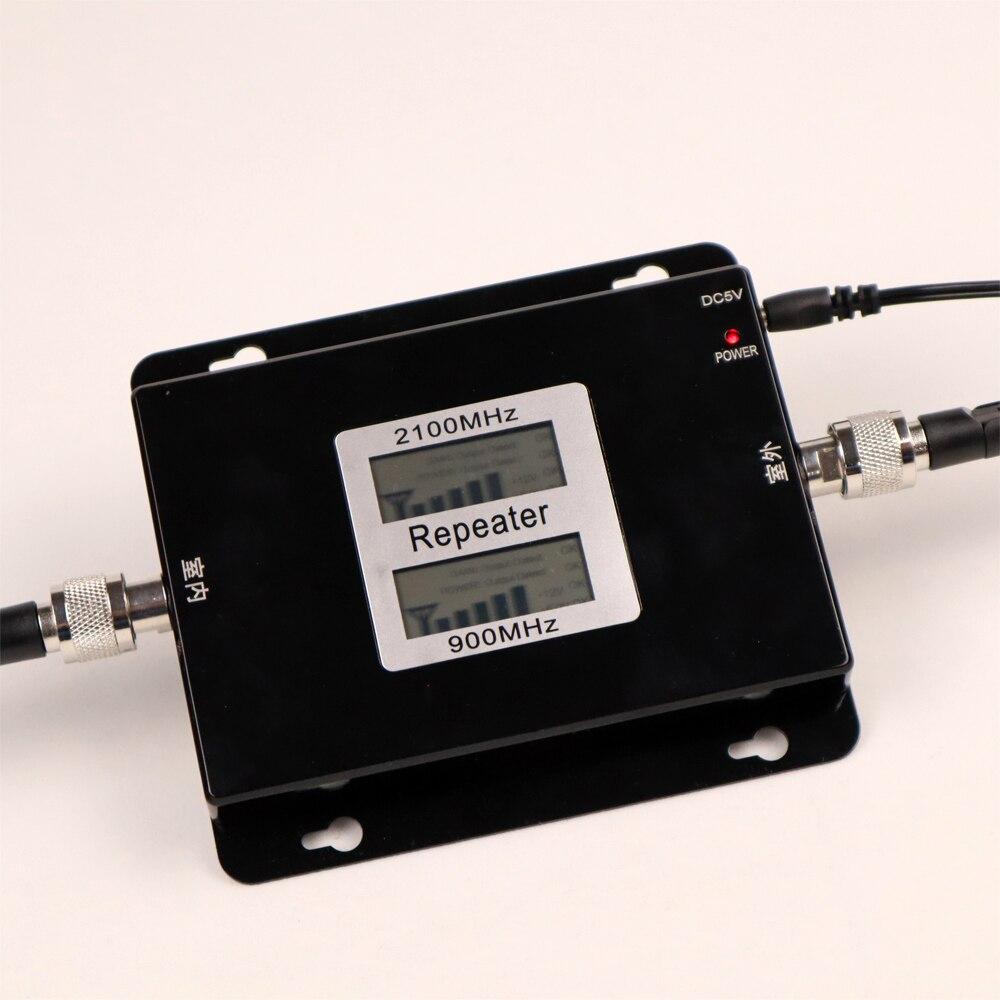 Double bande Booster 3G répéteur Double affichage GSM 900 MHz UMTS 2100 MHz téléphone portable WCDMA répéteurs 2G amplificateur Signal Booster - 2