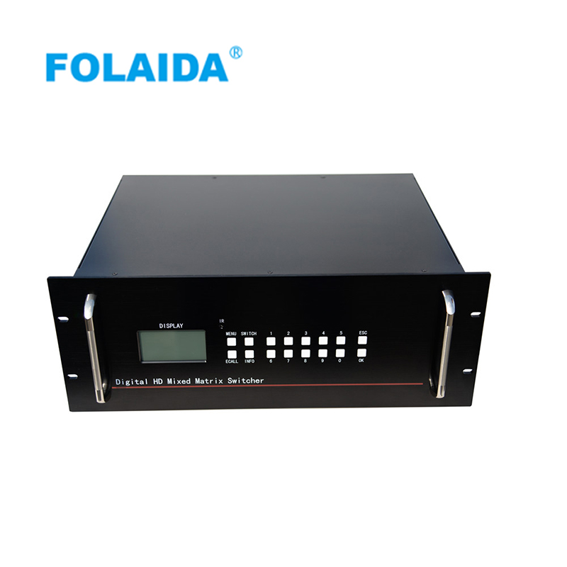 DHL free Folaida HDMI matrix switcher 16x16 16x32 32x16 32x32 40x40 48x48 with 9U HDCP 1080P HDMI Blu-ray Display matrix switch full 1080p hdmi 4x1 multi viewer with hdmi switcher perfect quad screen real time drop shipping 1108