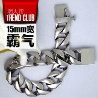 High Quality Gothic Vintage Bracelet Punk Star Chain Bangles Fashion Men Must Jewelry Accessories 316L Titanium