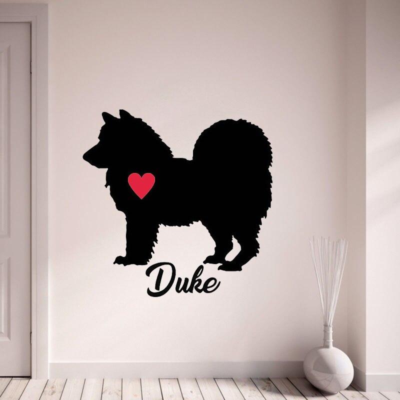 Пользовательское имя чау-чау наклейки персонализировать с имя вашей собаки Наклейки на стену собака с красным он Книги по искусству Настен... ...
