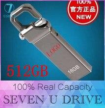 Acier inoxydable En Métal Étanche USB Flash Drives 512 GB U Disque De Stockage Pen Drive USB 2.0 Mémoire Bâton Disque 128 GB 16 GB 32 GB 64 GB