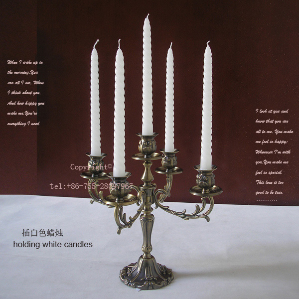 rare retro bronze Gothic 5-arm alloy metal candelabra candlesticks candle holder candelabrum home wedding decoration 210A