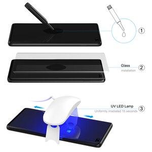Image 2 - UV サムスンギャラクシー S10 プラススクリーンプロテクター強化ガラス S10 S10Plus 湾曲したカバーフィルム S10 +