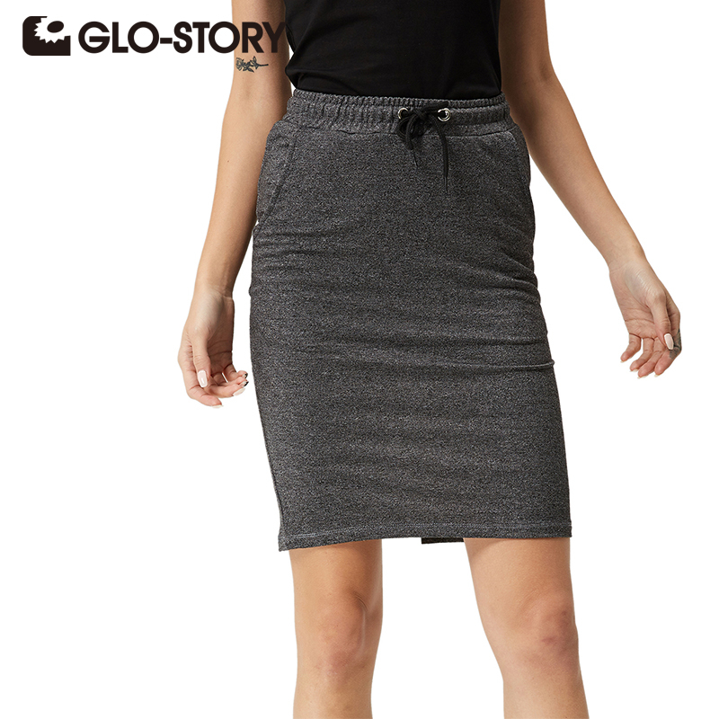 Us 1615 35 Offglo Story Women High Waist Pencil Skirt 2018 Casual Summer Solid Pockets Knit Bodycon Midi Skirts 1080 In Skirts From Womens