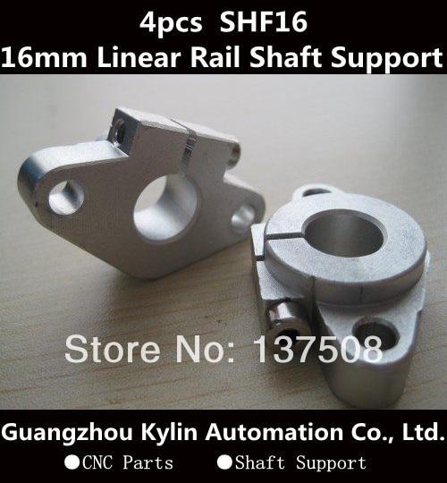 Hot Sale! 4pcs SHF16 horizontal linear shaft support,16mm Linear Rail Shaft Support XYZ Table CNC SHF Series Rail Shaft