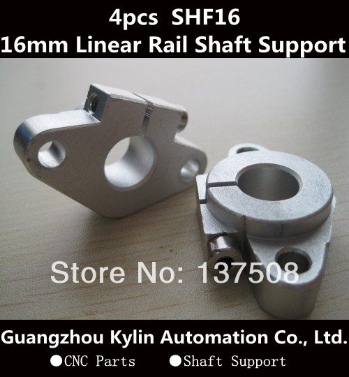 Venda quente! 4 pcs SHF16 horizontal suporte do eixo linear, 16mm Linear Trilho de Suporte Do Eixo XYZ Tabela CNC SHF Série Rail eixo