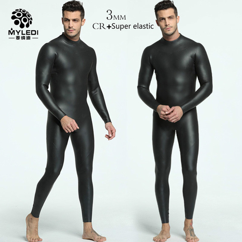 3MM Integrated Diving Suit CR Ultra Elastic Triathlon Wetsuit Male Anti Cold Warm Skin Diving Suit