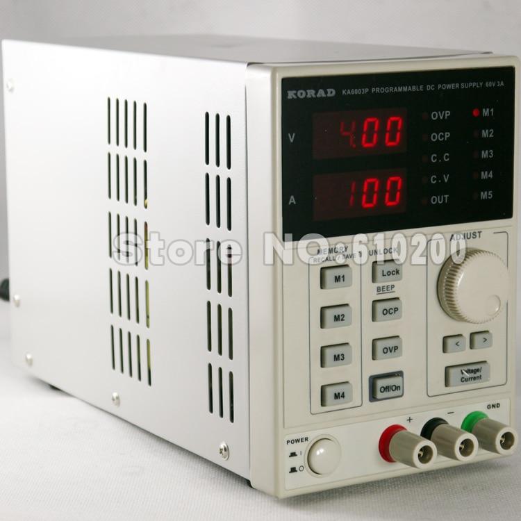 KORAD KA6003P High precision Programmable Adjustable Digital DC POWER SUPPLY 60V/3A R232 and USB Connect  computer 220V cps 6011 60v 11a digital adjustable dc power supply laboratory power supply cps6011