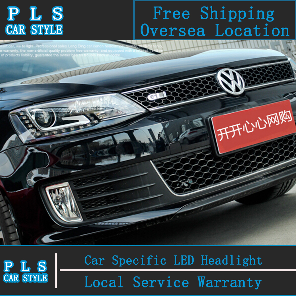 Car styling vw jetta headlights 2011 2014 jetta mk6 led headlight volks wagen new jetta