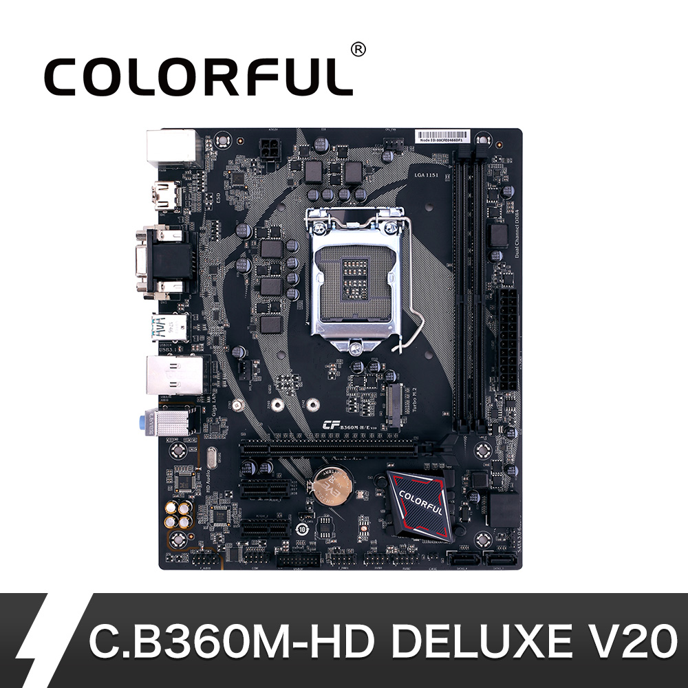 Colorful LGA 1151 DDR4 for USB3.0 Intel B360 Desktop Gaming Motherboard for M.2 Port