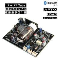 12AU7 Tube CSR8675 Bluetooth Audio Receiver Board ES9018 Decoding DAC APTX 24bit
