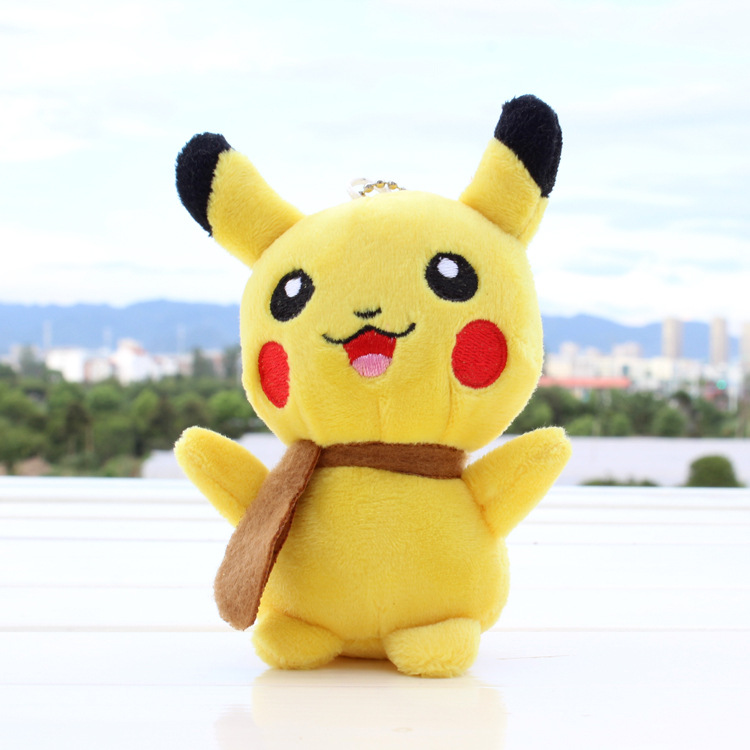 все цены на  13cm Pikachu Plush Toys Children Gift Cute Soft Toy Cartoon Pocket Monster Anime Kawaii Baby Kids Toy Pikachu Stuffed Plush Doll  онлайн