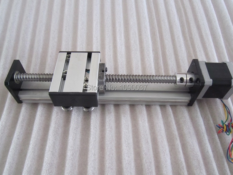 High Precision SG Ballscrew 1610 400mm Travel Linear Guide + 57 Nema 23 Stepper Motor CNC Stage Linear Motion Moulde Linear motorized stepper motor precision linear rail application for labs
