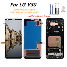 Tested LCD For LG V30 LCD Display Touch Screen Digitizer Assembly With Frame For LG H932 US998 LS998U Lcd Screen Replacement