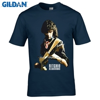GILDAN Fashion Brand T Shirt Ritchie Blackmore Heavy Metal Rock Guitarist Black T Shirt