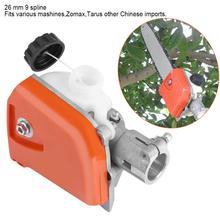 Головка для цепной пилы 26 мм, оранжевая шлицевая пила, резец для дерева, цепная пила, коробка передач, головка, инструмент 9 шлицевая
