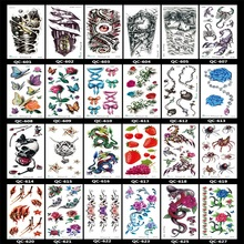 Green Waterproof Tattoo Stickers Personalized Fashion Male And Female Arm Tattoo Sticker Flowers