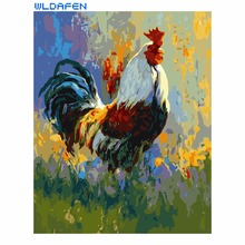 Frameless painting by numbers paint by number for home decor PBN for living room 4050 colorful chicken