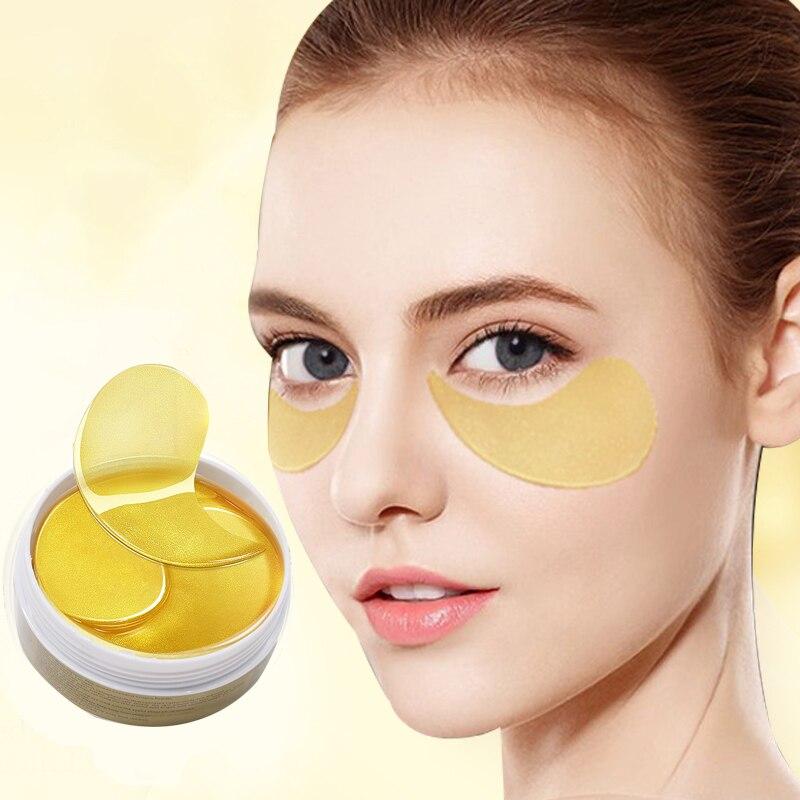 60 PC Gel de Colágeno Máscara de Olho Máscaras de Olho Manchas de Proteína de Soro de Olho Sob os Olhos Olheiras Hidratante de Cuidados Da Pele máscara de folha