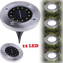 Solar Powered 2/4/8/12 LED Underground Waterproof Floor Buried Light Outdoor Lighting Garden Decorative Lamp white warm#137(China)