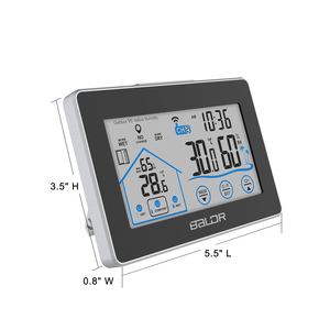 Image 3 - Baldr Draadloze Weerstation Touch Screen Thermometer Hygrometer Indoor Outdoor Weerbericht Sensor Kalender 3 Ch
