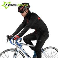 ROCKBROS New MTB Outdoor Sports Fleece Thermal Windproof Pant Bike Bicycle Waterproof Jacket Coat Winter Warm