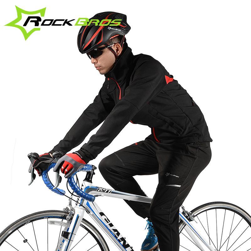 Rockbros Vélo Veste Pantalon Hiver Costume Sport Chaud Veste coupe-vent étanche