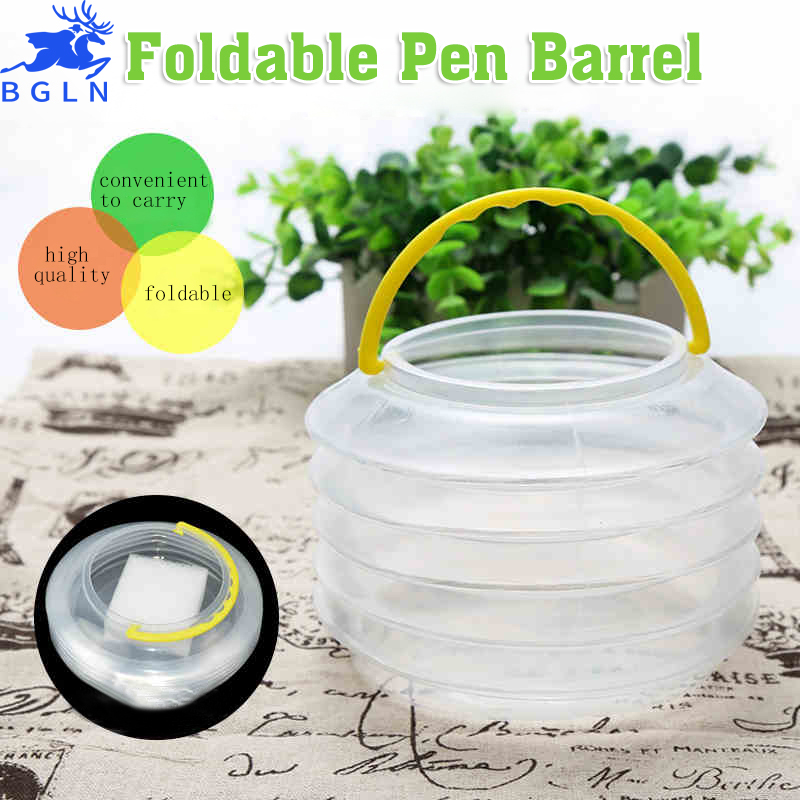 Bgln 5Pcs/set Scalable Telescopic Art Wash Pen Brush Cup With A Sponge Barrel Portable Watercolor Paints Bucket Art Supplies