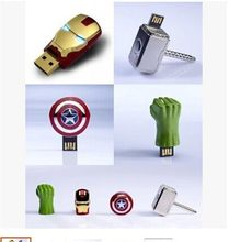 The Captain America Iron Man The Hulk Thor8GB 16GB U Disk Pen drive USB usb Flash Drive memory stick Cosplay props(China)