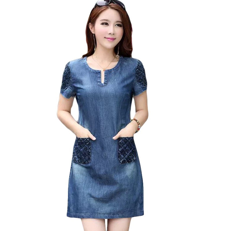 New 2018 Summer Fashion Elegant Denim Dress Hot Sale ...